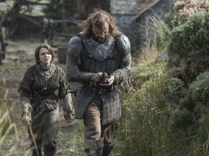 The Hound teaching Arya a lesson from the school of hard knocks.