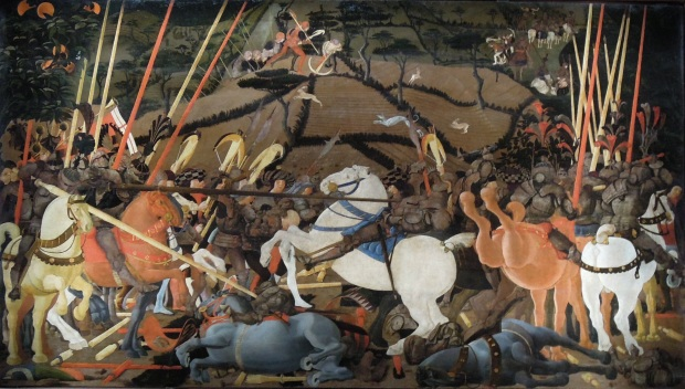 "Civil forfeiture in 1455. (""Battle of San Romano"" by Paolo Uccello)."
